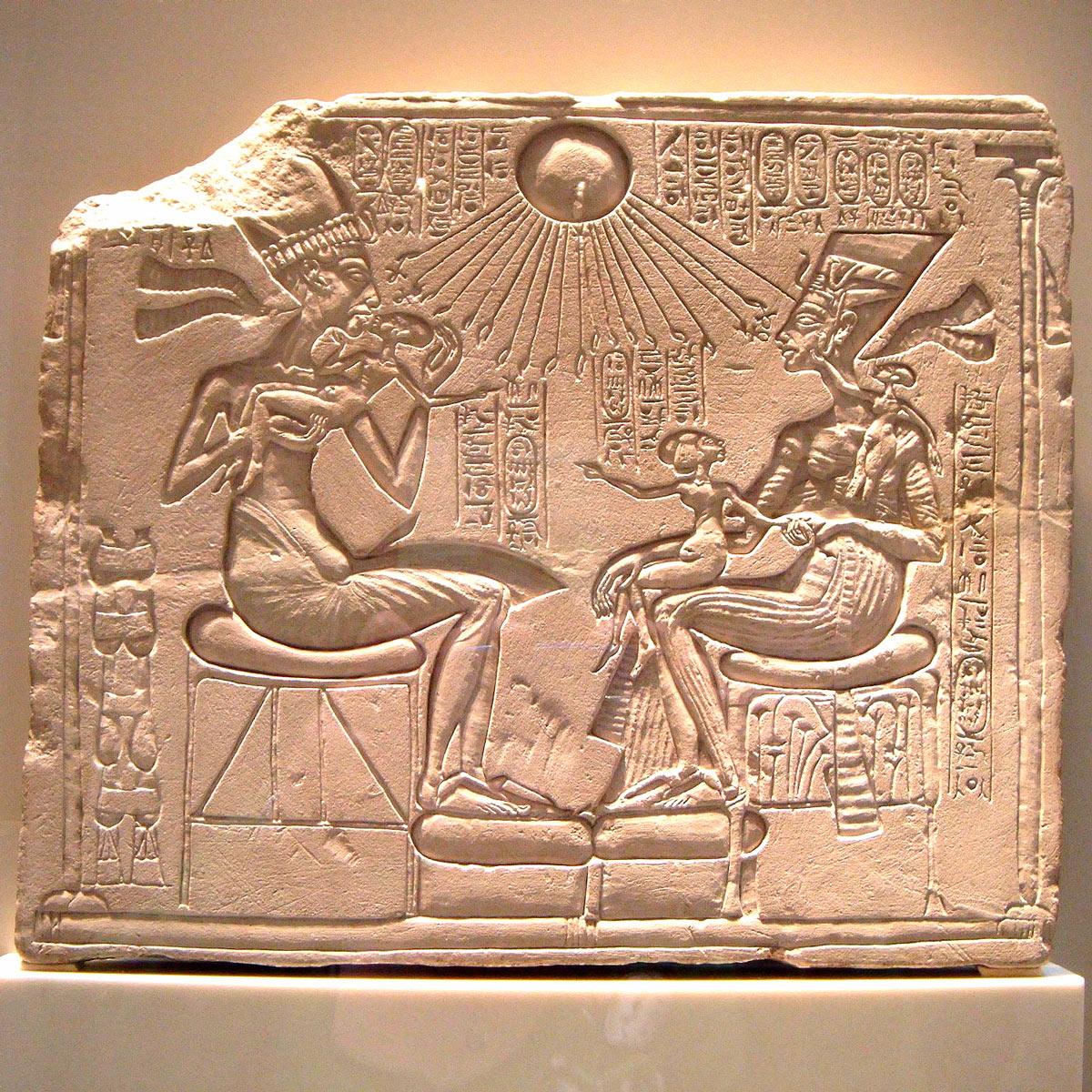 Akhenaton, Nefertiti et leurs enfants | 1340 av. JC