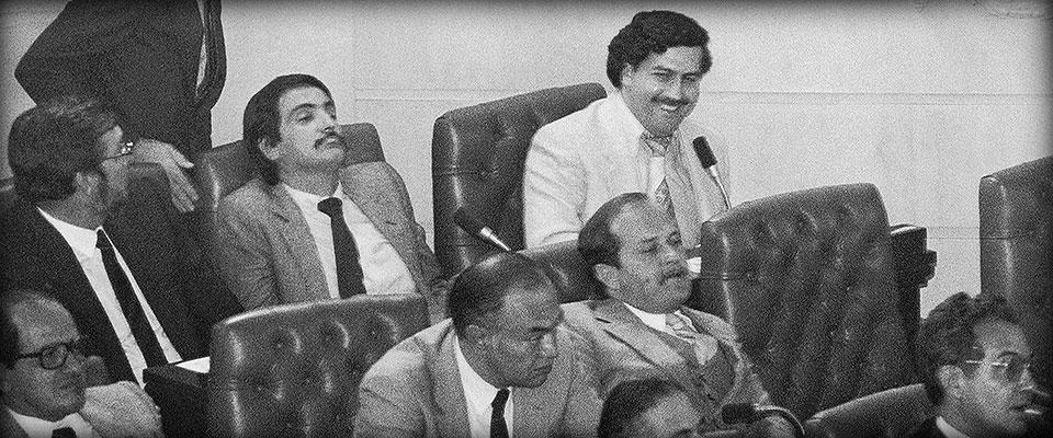 Pablo Escobar au congrès en 1982