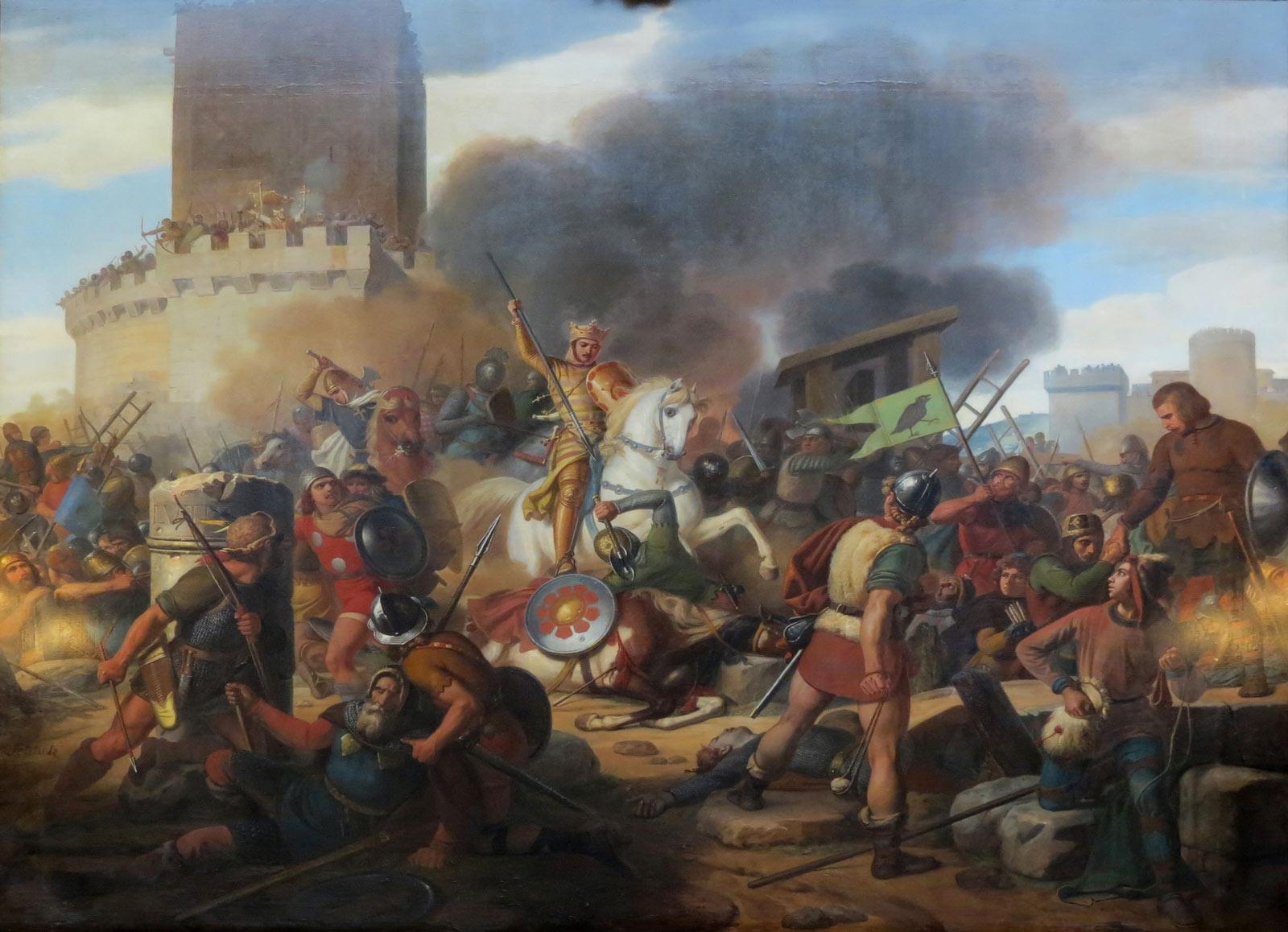Le comte Eudes pendant le siege de paris par les vikings