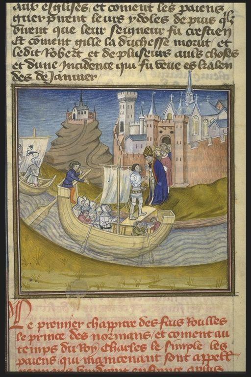 Rollon négociant la reddition de Rouen