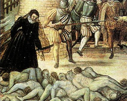 Le massacre de la saint barthelemy par François Dubois | réalisé entre 1576 et 1584