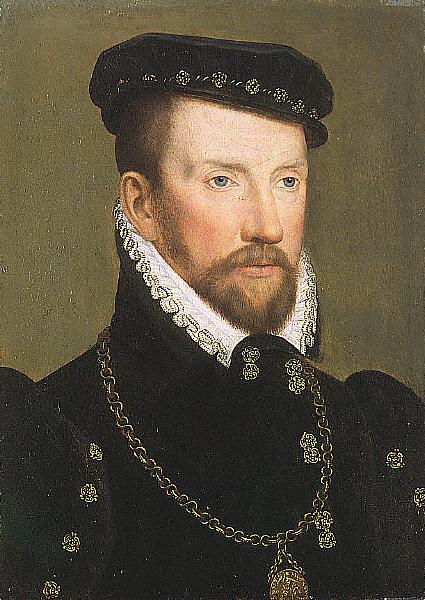 Gaspard II de Coligny par François Clouetvers 1565