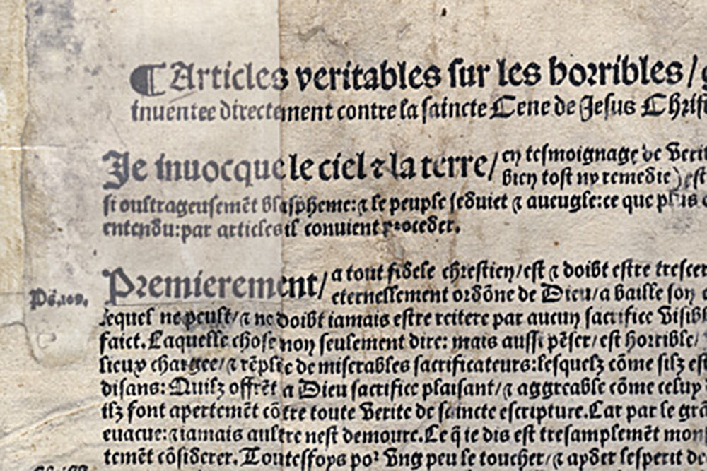 Affaire des placards - 1534