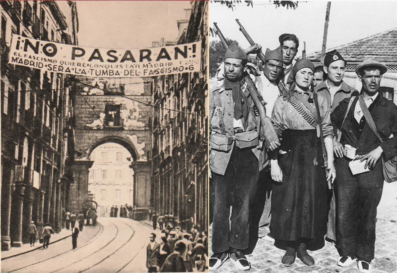 Siège de Madrid et miliciens républicains en 1936