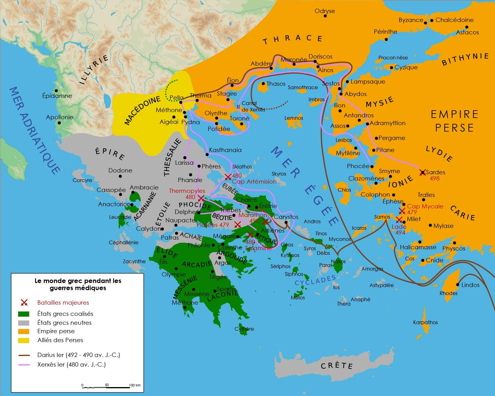 Le monde grec pendant les guerres médiques