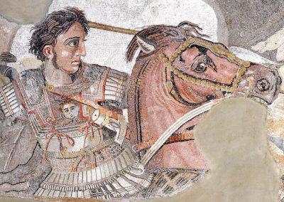 Détail d'Alexandre le grand à la bataille d'Issos