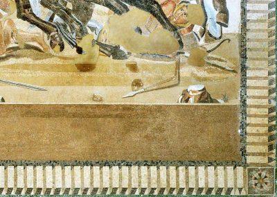 Détail estrade - Mosaique d'Alexandre