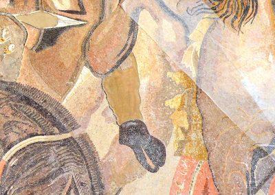 Détail pied - Mosaique d'Alexandre