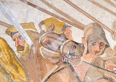 Détail prolongament lance - Mosaique d'Alexandre
