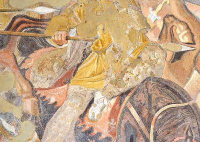 Détail du soldat transpercé par Alexandre