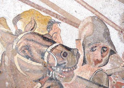 Détail visage - Mosaique d'Alexandre
