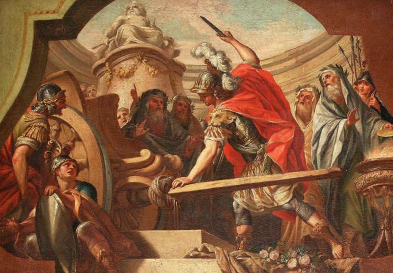 Alexandre tranchant le noeud gordien - fedele fischetti
