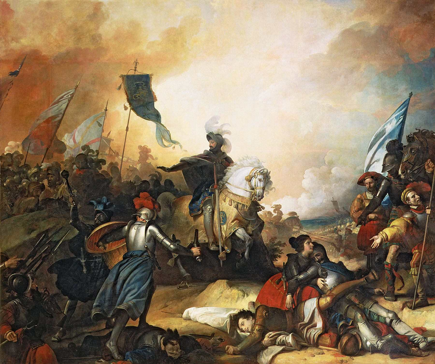 La bataille de Marignan par Alexandre Evariste Fragonard