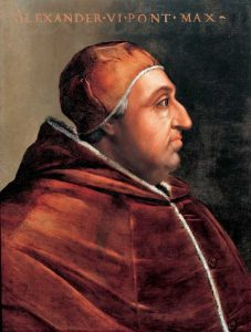 Pape Alexandre VI - Rodrigo Borgia par Cristofano dell'Altissimo