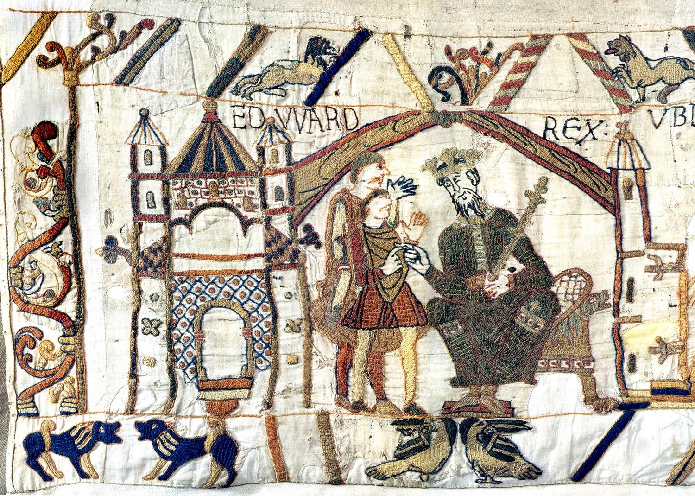 Tapisserie de Bayeux - Harold et Edouard le confesseur