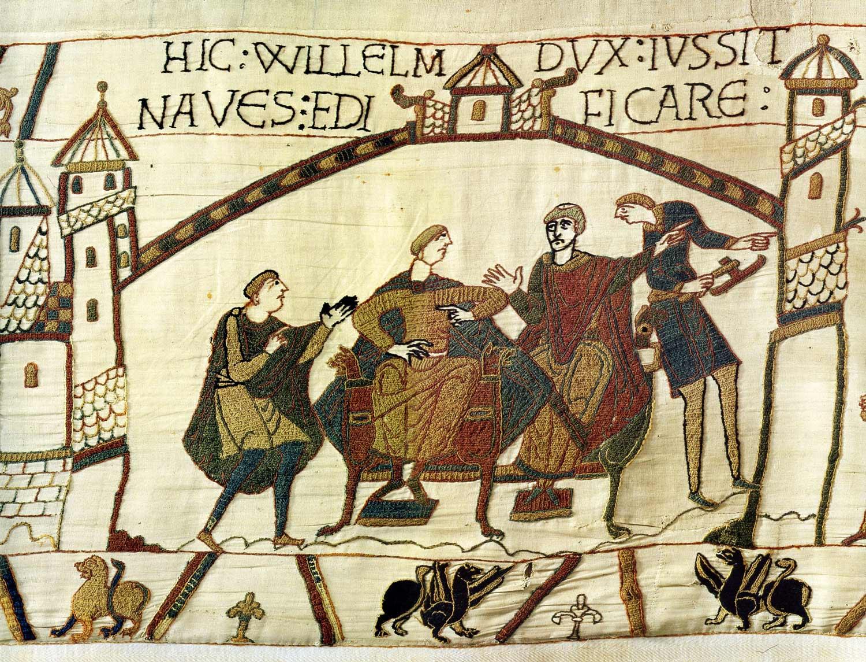 10-Tapisserie de Bayeux - Nouvelle du couronement de Harold rapportée à Guillaume