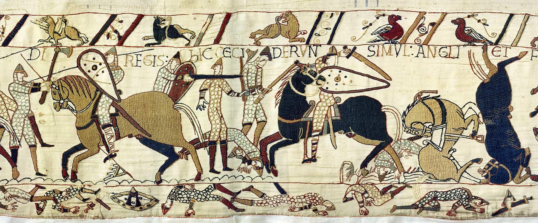 16 - Tapisserie de Bayeux - Rencontre des deux armées