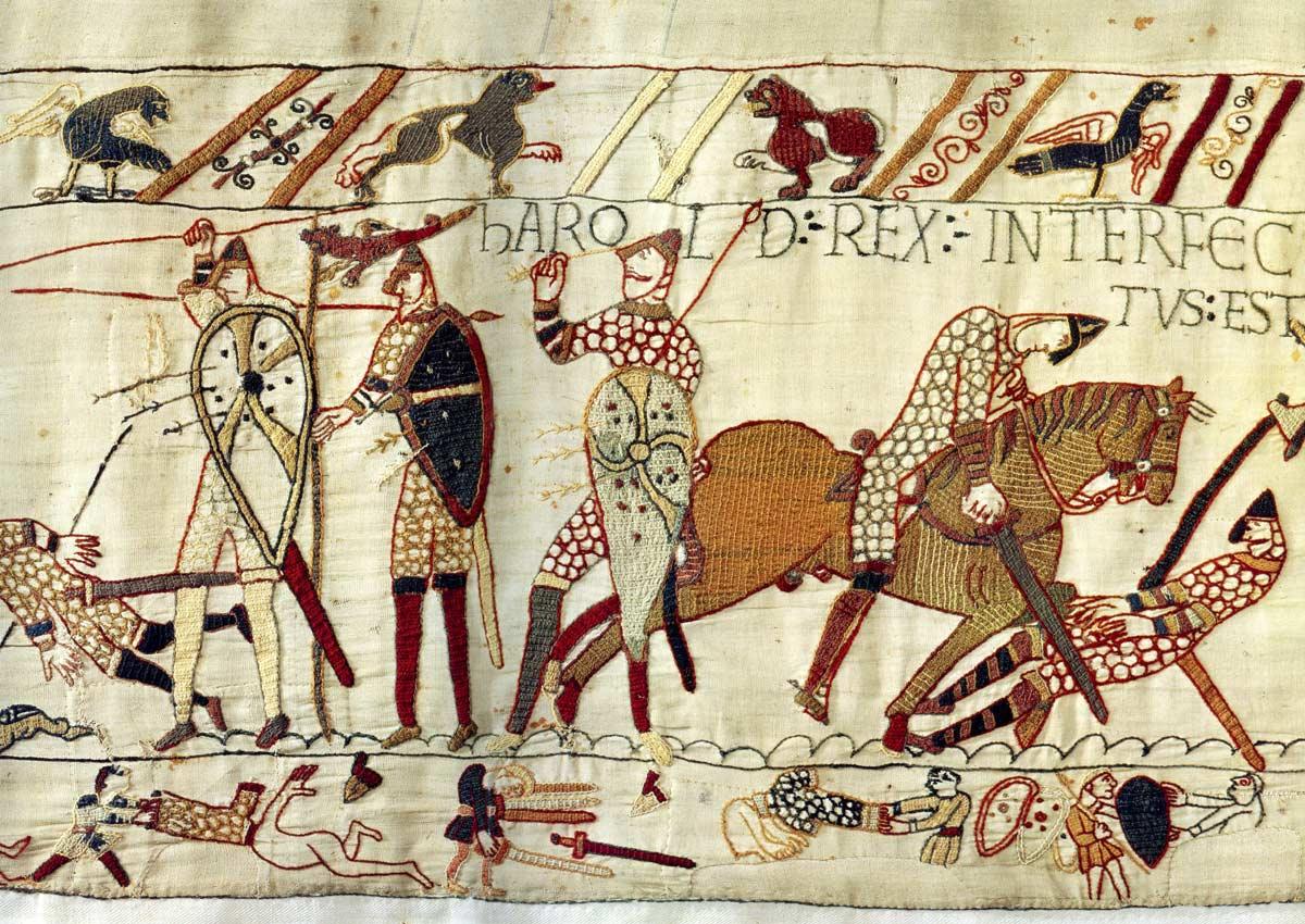17 - Tapisserie de Bayeux - Mort d'Harold