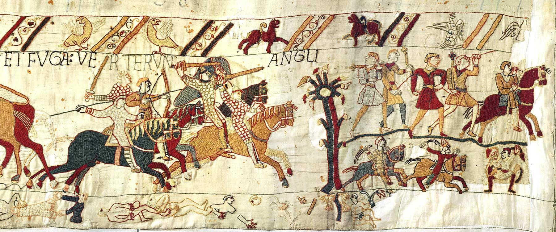 18 - Tapisserie de Bayeux - La fuite des anglais