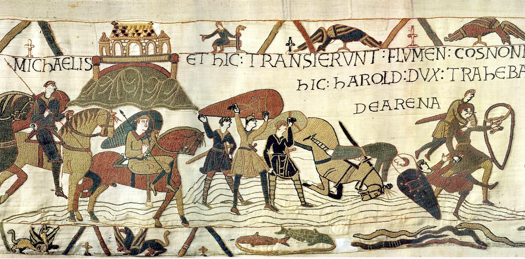 5-Tapisserie de Bayeux - Harold et guillaume le conquerant - mont-saint-michel