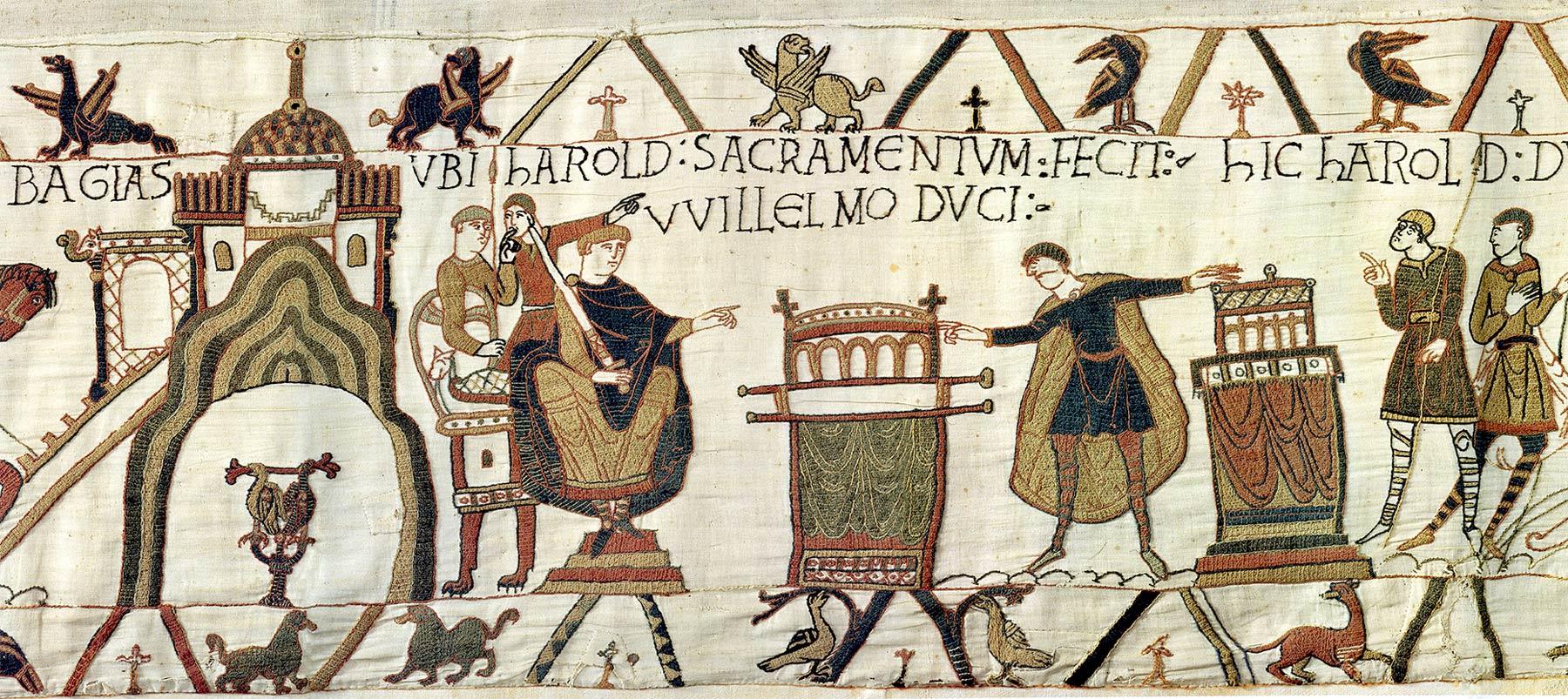 6-Tapisserie de Bayeux - Harold prête serment