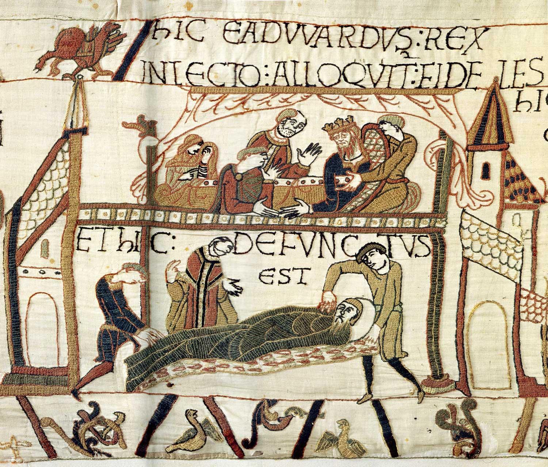 Tapisserie de Bayeux - Mort d'Edouard le confesseur