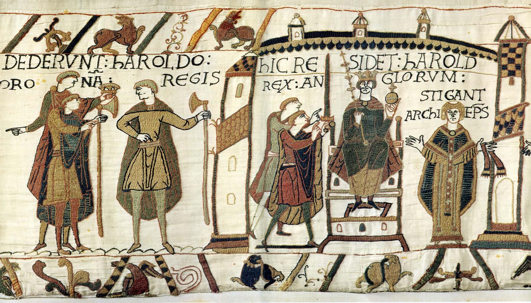 8-Tapisserie de Bayeux - Couronement de Harold