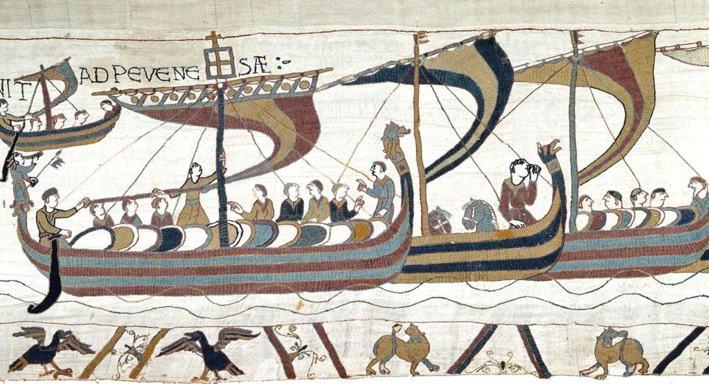La tapisserie de Bayeux-navires