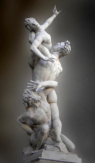 L'Enlèvement des Sabines | Giambologna | 1582 , Loggia dei Lanzi, Florence