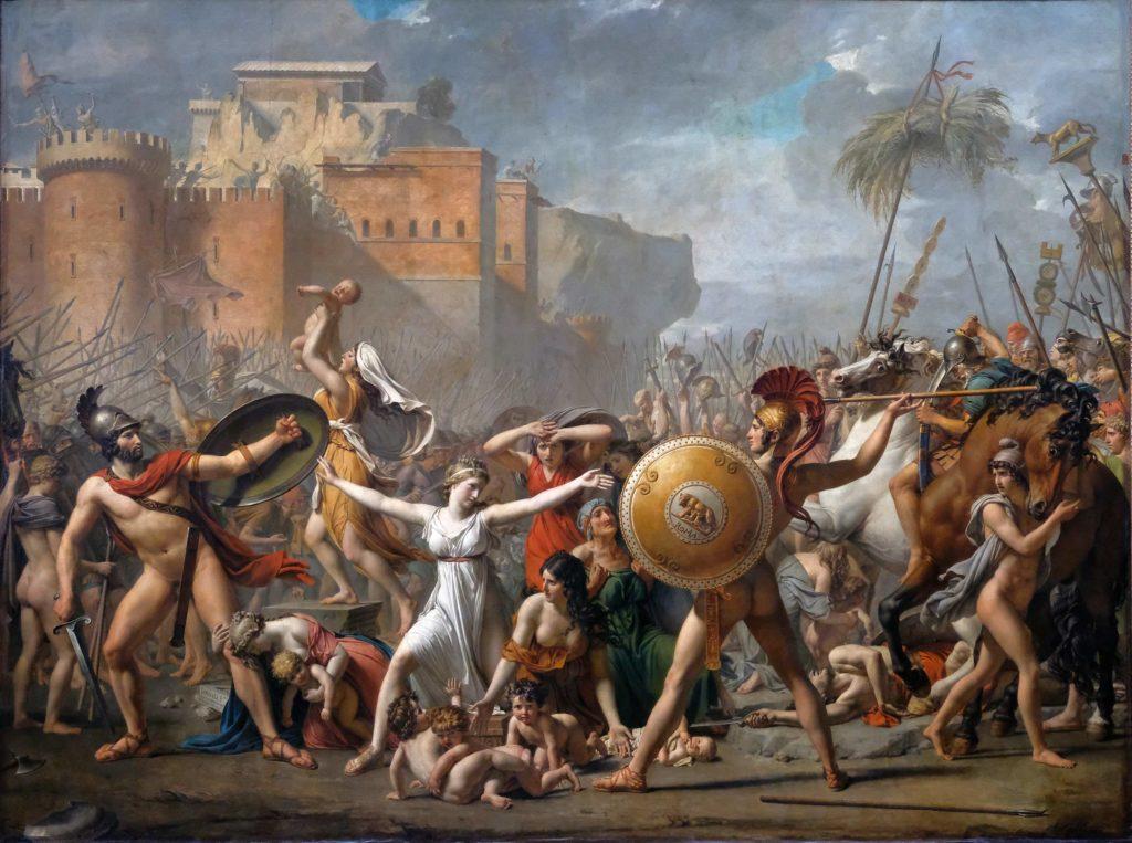 Les Sabines par Jacques Louis David