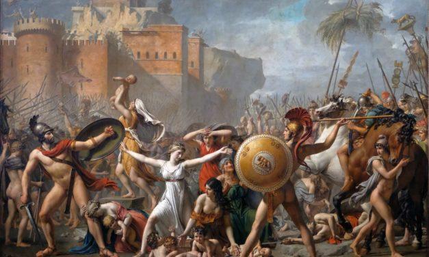 Les sabines décoiffées par Jacques-Louis David