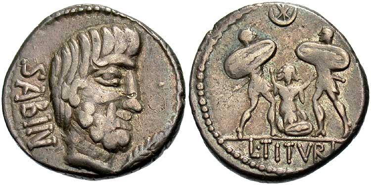 monnaie avec Tarpeia