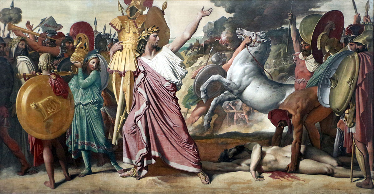 Ingres - Romulus, vainqueur d'Acron - 1812