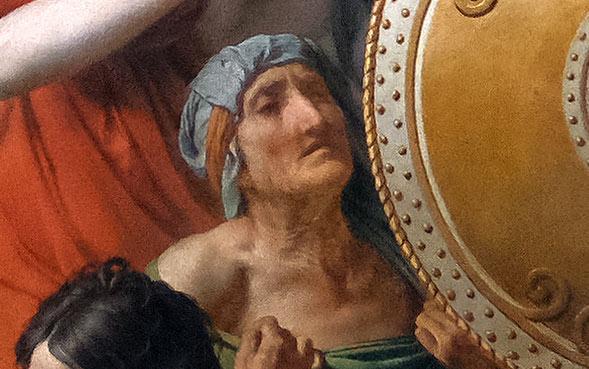 Les Sabine par Jacques-Louis David - Vieille femme