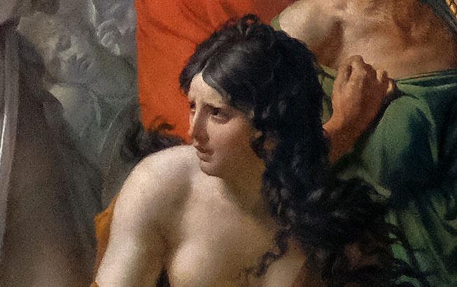 Les Sabines par Jacques-Louis David - Femme à genoux
