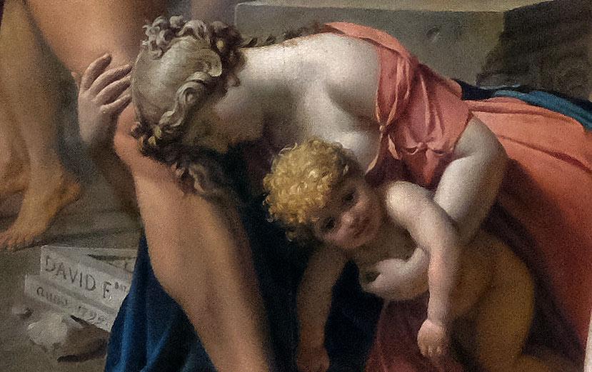 Les Sabines par Jacques-Louis David - Femme implorante