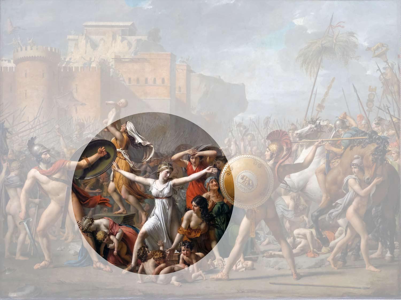 Les sabines par Jacques-Louis David - Cercle des femmes