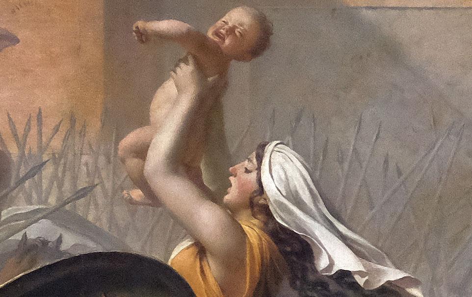 Les Sabines par Jacques-Louis David - femme au nourrisson